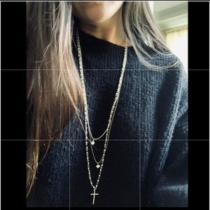 Topshop 3 in 1 chain necklace